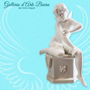 Porcellana di Capodimonte Angelo farfalla in porcellana bianca, biscuit.