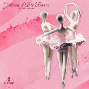 Lladró Porcellana artistica by Lladró. Gruppo ballerine Posa di ballo