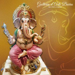 Porcellana Capodimonte. Divinità Indiane. Ganesha, Il Dio elefante.