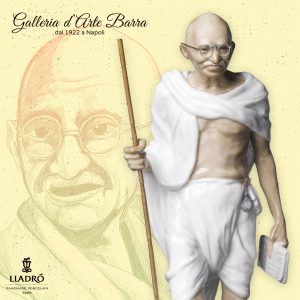 Porcellana artistica. By Lladró. Mahatma Gandhi