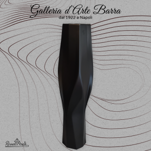 Rosenthal: Studio line. Vaso Weave by Zaha Hadid design. Porcellana nera opaca.