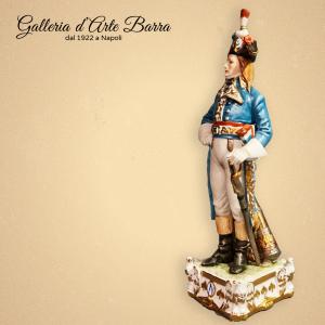 Porcellana Capodimonte Soldato, Soldati, Generale del 1797 serie Napoleonica.