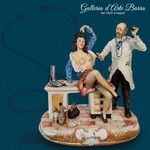 """Porcellana di Capodimonte """"Il Dottore e la Paziente"""" originale creazione"""