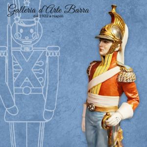 Porcellana Capodimonte Soldato, Soldati, Dragone del 1812 serie  Napoleonica.