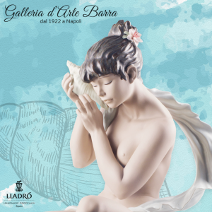 Lladró Porcellana artistica Gres Lladro. Scultura di Donna I sussurri del mare.