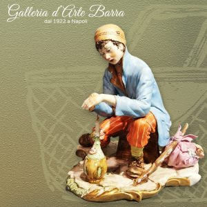 Porcellana Capodimonte, Senza Famiglia, Scultore Volta. Raro anni 80